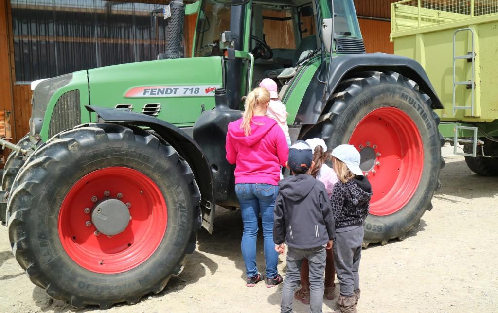 Traktorbesteigung